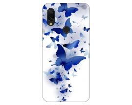 Husa Silicon Soft Upzz Print Xiaomi Redmi 7 Model Blue Butterflies