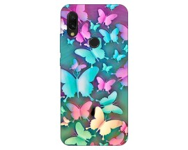 Husa Silicon Soft Upzz Print Xiaomi Redmi 7 Model Colorful Butterflies