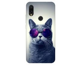 Husa Silicon Soft Upzz Print Xiaomi Redmi 7 Model Cool Cat
