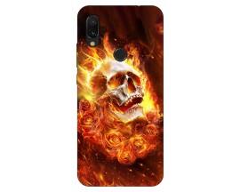 Husa Silicon Soft Upzz Print Xiaomi Redmi 7 Model Flame Skull