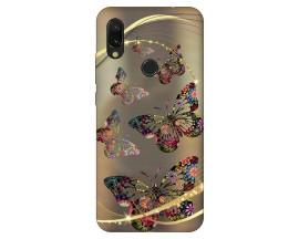 Husa Silicon Soft Upzz Print Xiaomi Redmi 7 Model Golden Butterflies
