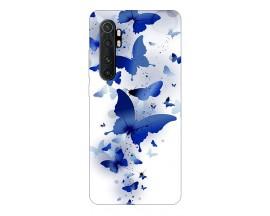 Husa Silicon Soft Upzz Print Xiaomi Mi Note 10 Lite Model Blue Butterflies