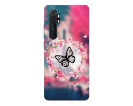 Husa Silicon Soft Upzz Print Xiaomi Mi Note 10 Lite Model Butterfly