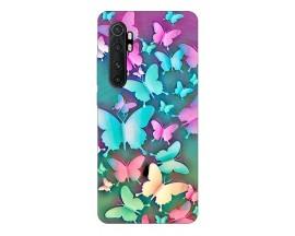 Husa Silicon Soft Upzz Print Xiaomi Mi Note 10 Lite Model Colorful Butterflies