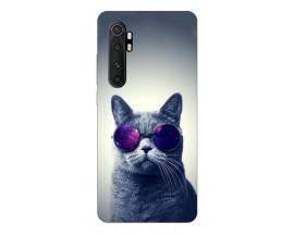Husa Silicon Soft Upzz Print Xiaomi Mi Note 10 Lite Model Cool Cat