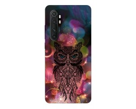 Husa Silicon Soft Upzz Print Xiaomi Mi Note 10 Lite Model Sparkle Owl
