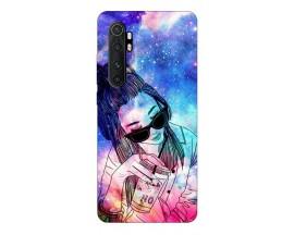 Husa Silicon Soft Upzz Print Xiaomi Mi Note 10 Lite Model Universe Girl