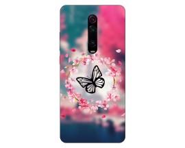 Husa Silicon Soft Upzz Print Xiaomi Redmi 9T Model Butterfly