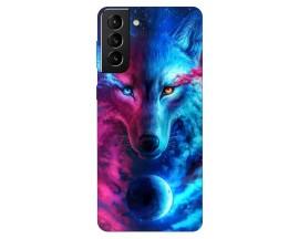 Husa Silicon Soft Upzz Print Compatibila Cu Samsung Galaxy S21 Plus Model Wolf