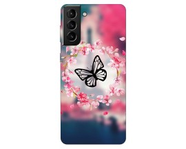 Husa Silicon Soft Upzz Print Compatibila Cu Samsung Galaxy S21 Plus Model Butterfly