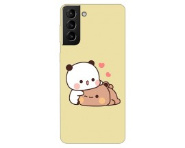 Husa Silicon Soft Upzz Print Samsung Galaxy S21 Plus Model Teddy