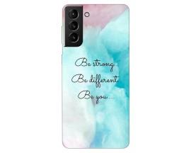 Husa Silicon Soft Upzz Print Compatibila Cu Samsung Galaxy S21 Model Be You