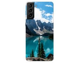 Husa Silicon Soft Upzz Print Compatibila Cu Samsung Galaxy S21 Model Blue