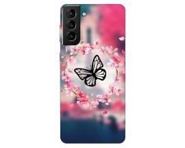 Husa Silicon Soft Upzz Print Compatibila Cu Samsung Galaxy S21 Model Butterflies