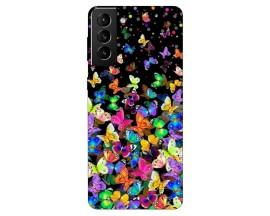 Husa Silicon Soft Upzz Print Compatibila Cu Samsung Galaxy S21 Model Colorature