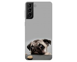 Husa Silicon Soft Upzz Print Compatibila Cu Samsung Galaxy S21 Model Dog