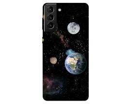Husa Silicon Soft Upzz Print Compatibila Cu Samsung Galaxy S21 Model Earth