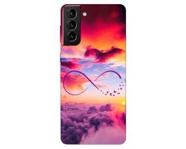 Husa Silicon Soft Upzz Print Compatibila Cu Samsung Galaxy S21 Model Infinity