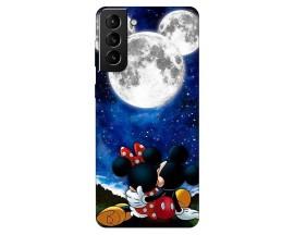 Husa Silicon Soft Upzz Print Compatibila Cu Samsung Galaxy S21 Model Moon