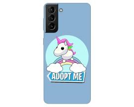 Husa Silicon Soft Upzz Print Compatibila Cu Samsung Galaxy S21 Model Pink Unicorn