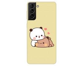 Husa Silicon Soft Upzz Print Compatibila Cu Samsung Galaxy S21 Model Teddy