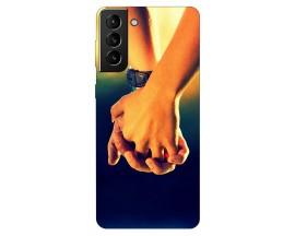 Husa Silicon Soft Upzz Print Compatibila Cu Samsung Galaxy S21 Model Together