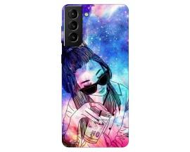 Husa Silicon Soft Upzz Print Compatibila Cu Samsung Galaxy S21 Model Universe Girl