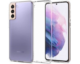 Husa Premium Spigen Liquid Crystal Pentru Samsung Galaxy S21, Silicon, Transparent