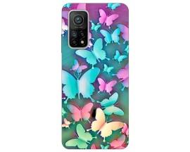 Husa Silicon Soft Upzz Print Xiaomi Mi 10T / Mi 10T Pro Model Colorfull Butterflies