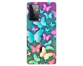 Husa Silicon Soft Upzz Print Compatibila Cu Samsung Galaxy A72 5g Model Colorfull Butterflies