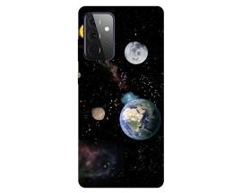 Husa Silicon Soft Upzz Print Compatibila Cu Samsung Galaxy A72 5g Model Earth