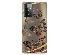 Husa Silicon Soft Upzz Print Compatibila Cu Samsung Galaxy A72 5g Model Golden Butterflies
