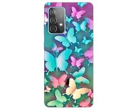 Husa Silicon Soft Upzz Print Compatibila Cu Samsung Galaxy A52 5g Model Colorfull Butterflies