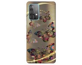 Husa Silicon Soft Upzz Print Samsung Galaxy A52 5G Model Golden Butterfly