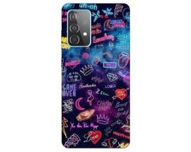 Husa Silicon Soft Upzz Print Compatibila Cu Samsung Galaxy A52 5g Model Neon