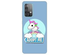 Husa Silicon Soft Upzz Print Compatibila Cu Samsung Galaxy A52 5g Model Pink Unicon