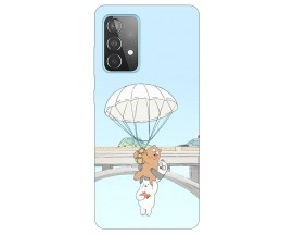 Husa Silicon Soft Upzz Print Compatibila Cu Samsung Galaxy A52 5g Model Three Bears