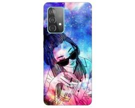 Husa Silicon Soft Upzz Print Samsung Galaxy A52 5G Model Universe Girl