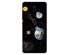 Husa Silicon Soft Upzz Print Xiaomi Redmi 9T Model Earth