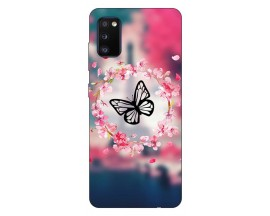 Husa Silicon Soft Upzz Print Samsung Galaxy A02s Model Butterfly
