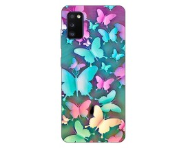 Husa Silicon Soft Upzz Print Samsung Galaxy A02s Model Colorfull Butterflies