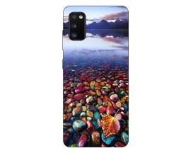 Husa Silicon Soft Upzz Print Compatibila Cu Samsung Galaxy A02s Model Leaf