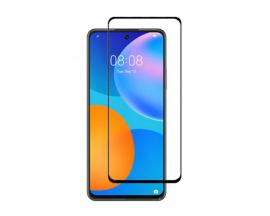 Folie Protectie Ecran Hybrid Upzz Ceramic Full Glue Pentru Huawei P Smart 2021 , Transparenta Cu Margine Neagra
