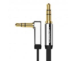 Cablu Audio Aux Jack La Jack 3.5mm Ugreen 1m  Lungime Silver, 1 X Cap 90 Grade
