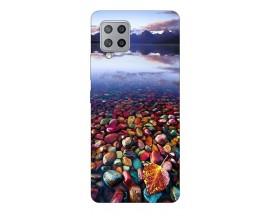 Husa Silicon Soft Upzz Print Compatibila Cu Samsung Galaxy A12 Model Leaf