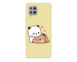 Husa Silicon Soft Upzz Print Compatibila Cu Samsung Galaxy A12 Model Teddy