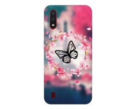 Husa Silicon Soft Upzz Print Compatibila Cu Samsung Galaxy A01 Model Butterfly