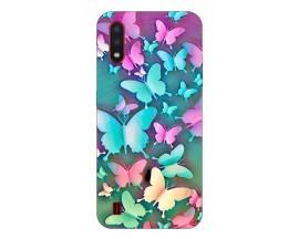 Husa Silicon Soft Upzz Print Compatibila Cu Samsung Galaxy A01 Model Colorfull Butterflies