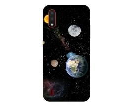 Husa Silicon Soft Upzz Print Compatibila Cu Samsung Galaxy A01 Model Earth