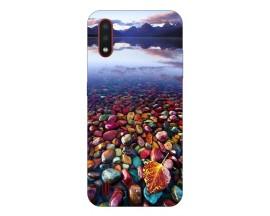 Husa Silicon Soft Upzz Print Compatibila Cu Samsung Galaxy A01 Model Leaf